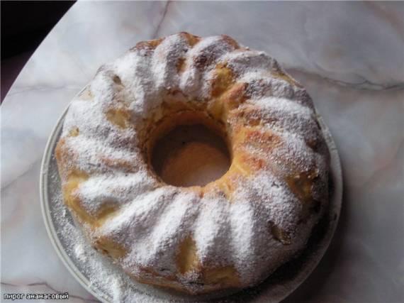 Пирог ананасовый