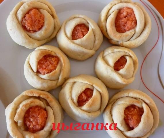 Печенье «Розочки» с ванильным сахаром