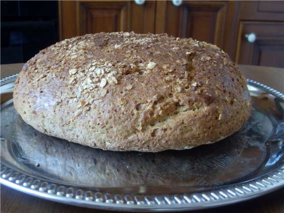 Хлеб с овсяными хлопьями в хлебопечке