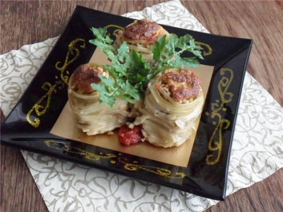 Салангани с начинкой из гречки с грибами