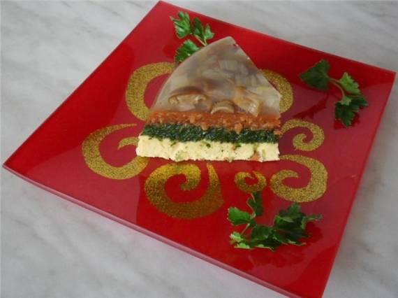 Вегетарианское заливное «Радуга вкуса»