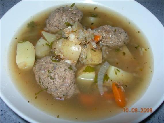 Суп с квиноа