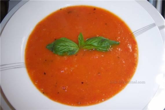 Суп из запечённых томатов