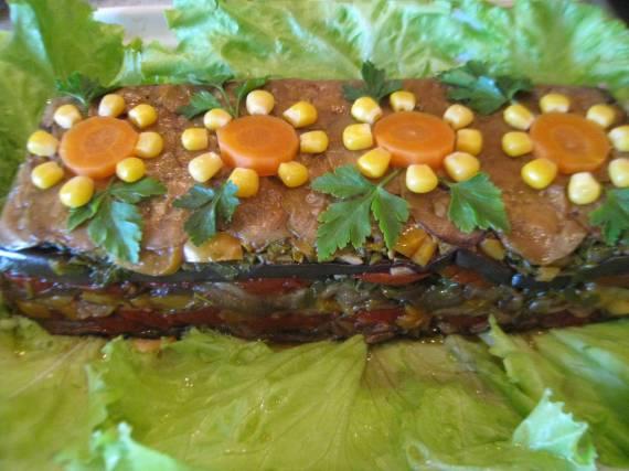 Овощной торт А-ля рататуй