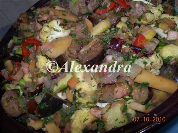 Овощи в марокканском стиле