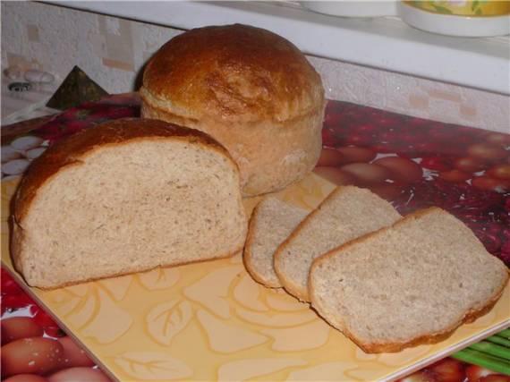 Пшенично – ячменный хлебушек в духовке