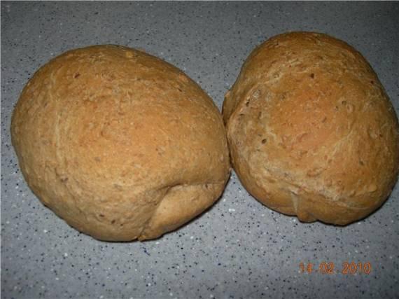 Деревенский хлеб в хлебопечке (автор Линка)