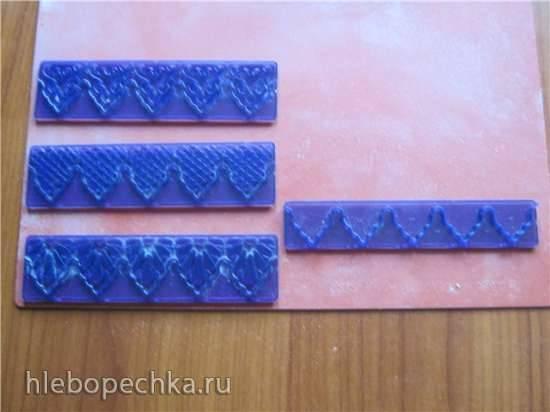 Линеечки-штампы для оборок из мастики (мастер-класс по использованию)
