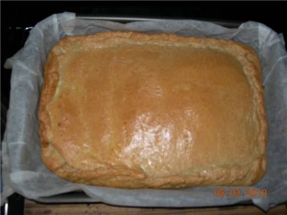 Быстрый дрожжевой пирог с зелёным луком