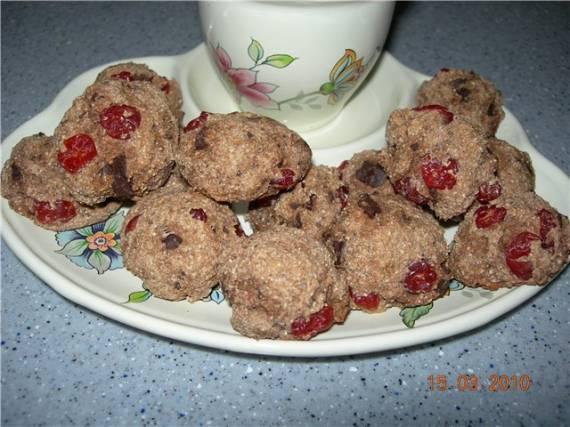Постное печенье вишня в шоколаде