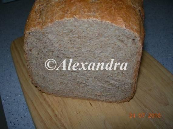 Хлеб цельнозерновой творожный на спелом тесте