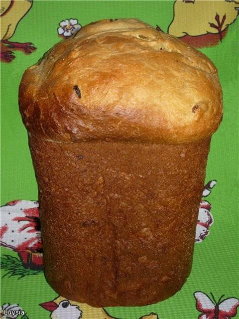 Кулич на лимонном соке Цитрусовый (хлебопечка)