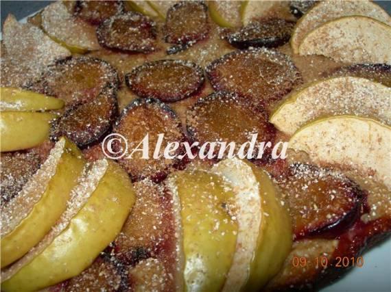 Овсяный пирог с фруктами