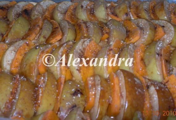 Яблочно-тыквенный творожный пирог из универсального творожного теста