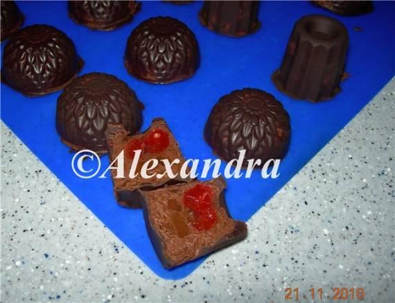 Мармелад в шоколаде Вишенка