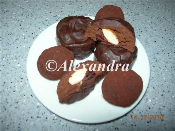 Трюфели и обливные шоколадные конфеты «Сиреневый туман»
