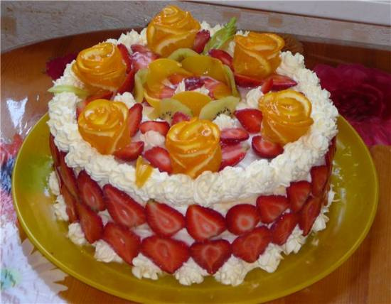 Торт творожно-клубничный Торт \\