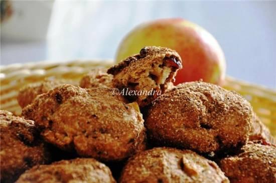 Яблочные сконы с густым джемом без сахара Сконы яблочные цельнозерновые