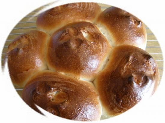 Сладкие молочные булочки по Бертине