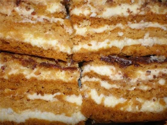 Торт Медовик из заварного теста