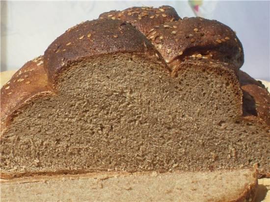 Диетический хлеб на закваске ( в духовке)
