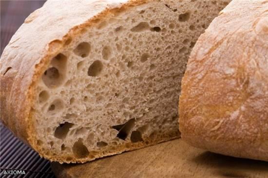 Хлеб ржаной 100% из обдирной и сеяной муки в ХП.