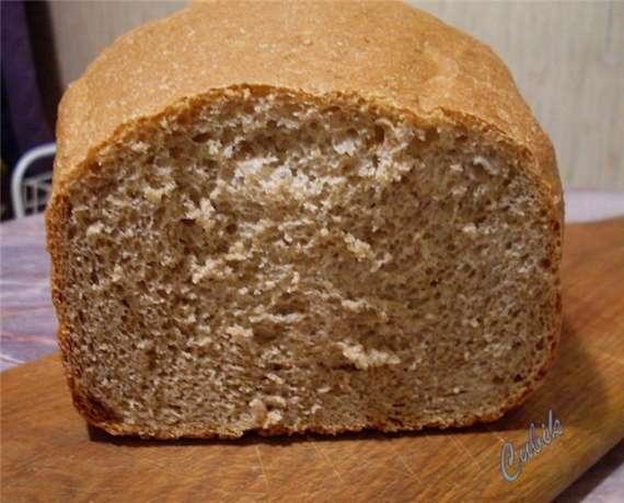 100% цельнозерновой хлеб с добавлением отрубей