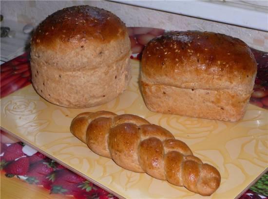 Пшеничный цельнозерновой хлебушек (духовка)