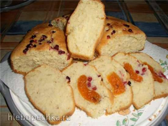 Бездрожжевой творожный хлеб Бездрожжевой творожный хлеб