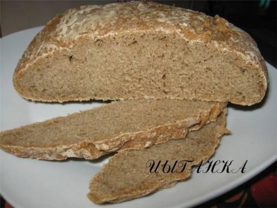 Цельнозерновой самозаквасочный хлеб (безопарный способ)