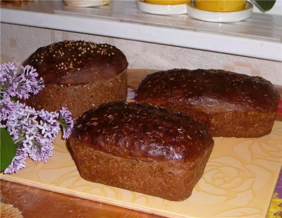 Бородинский хлебушек в духовке Бородинский хлебушек в духовке
