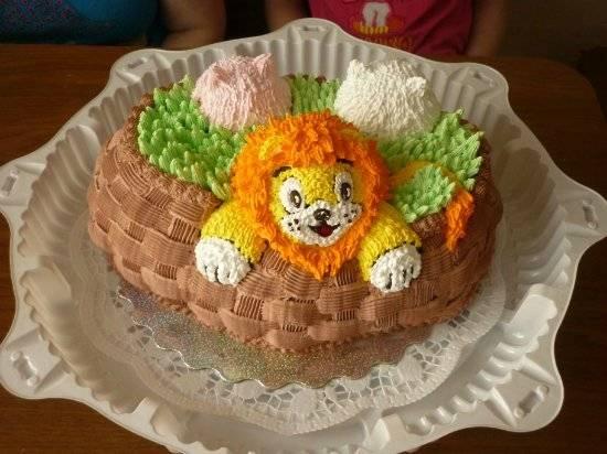 """Торт """"Веселая корзина"""" Мастер-класс"""