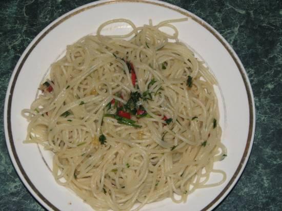 Спагетти  пикантные по-итальянски