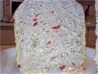Вишневый хлеб к чаю (хлебопечка)