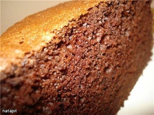 Шоколадный шифоновый бисквит Шоколадный шифоновый бисквит
