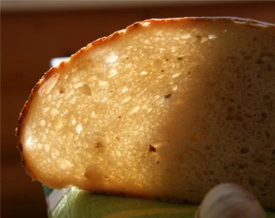 Картофельный хлеб с чесноком и розмарином  Питера Рейнхарта (духовка)
