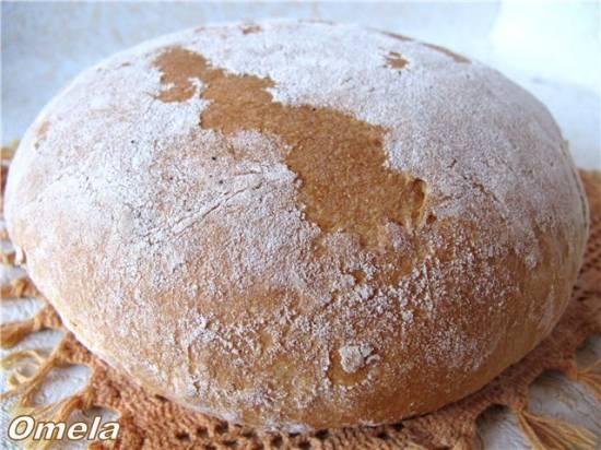 Хлеб заварной «Каролина» с рисовой мукой (духовка)