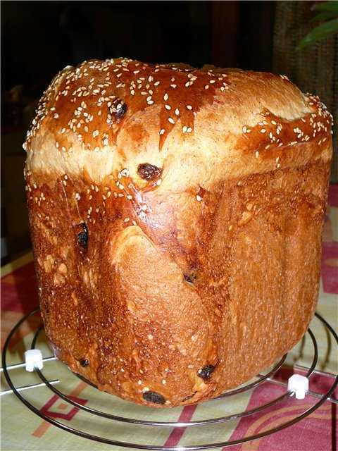 Сдобная булка на закваске в хлебопечке