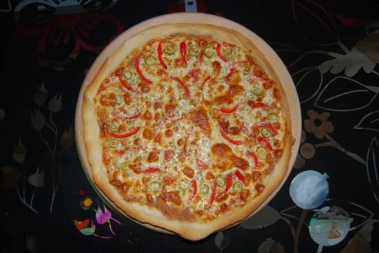 Пицца.Тонкая.Овощная.