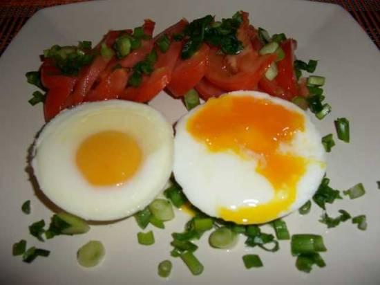 Яйца в формочках
