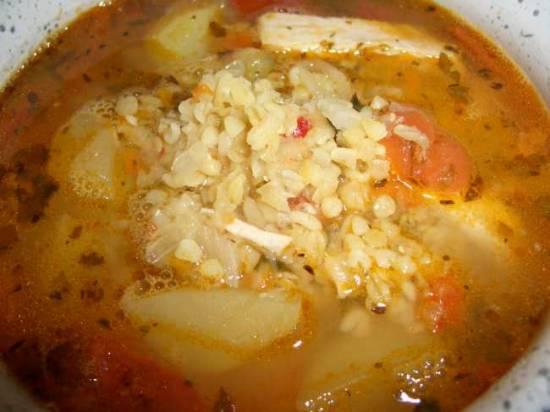 Суп с чечевицей и булгуром