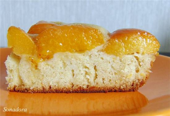 Пирог медовый бисквитный с абрикосами (Panasonic SR-TMH18)