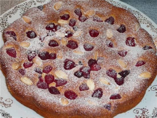 Открытый ягодный пирог (безглютеновый вариант)
