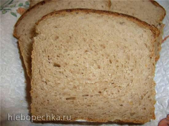 Хлеб пшенично-каштановый на картофеле (духовка)