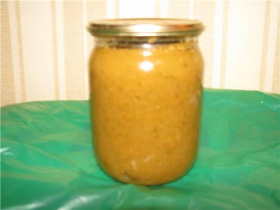 Икра из соленых огурцов и тыквы