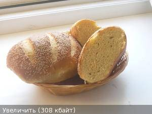 Пшеничный батон в микроволновке