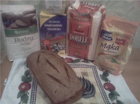 Хлеб из 4 видов муки на закваске