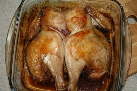 Курица, разделаная под Баттерфляй