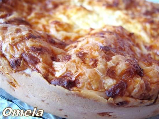 Пирог сырный быстрый