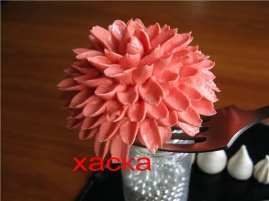 Хризантема из крема (мастер-класс)